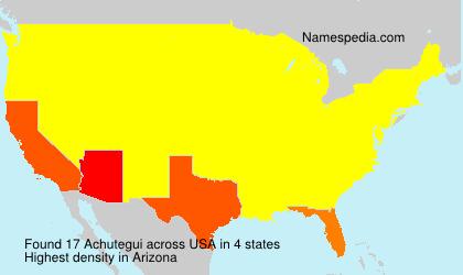 Familiennamen Achutegui - USA