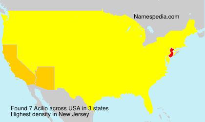 Familiennamen Acilio - USA
