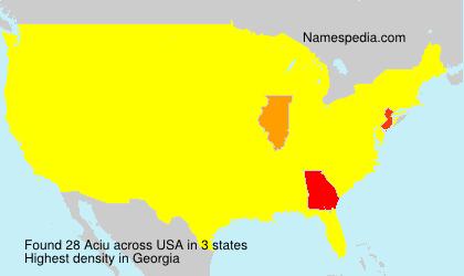 Surname Aciu in USA
