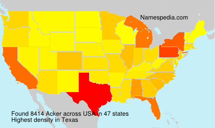 Surname Acker in USA