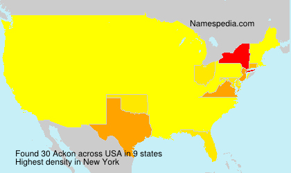 Surname Ackon in USA