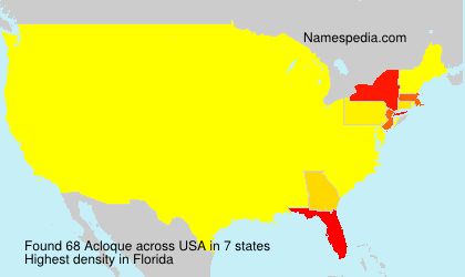 Surname Acloque in USA