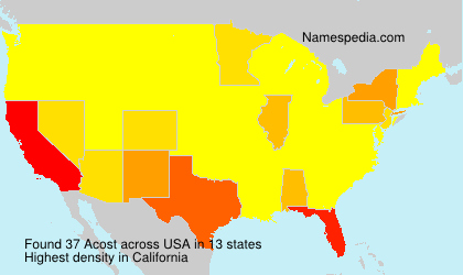 Surname Acost in USA
