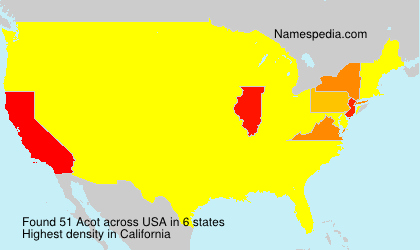 Surname Acot in USA