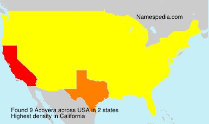 Surname Acovera in USA