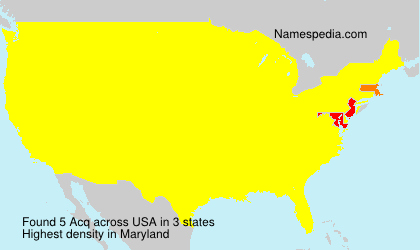 Surname Acq in USA