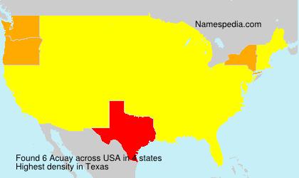 Familiennamen Acuay - USA