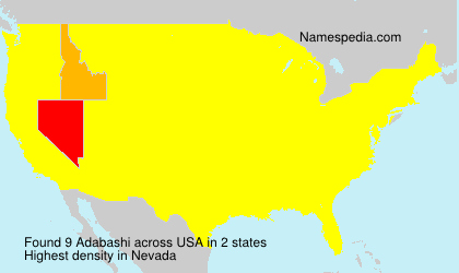 Surname Adabashi in USA