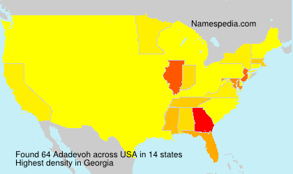 Surname Adadevoh in USA