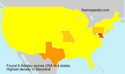 Surname Adadey in USA