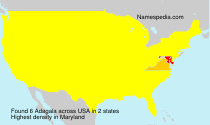Surname Adagala in USA