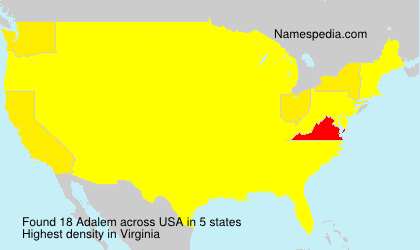 Surname Adalem in USA
