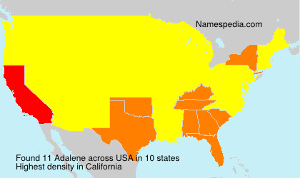 Surname Adalene in USA
