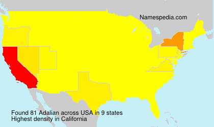 Surname Adalian in USA