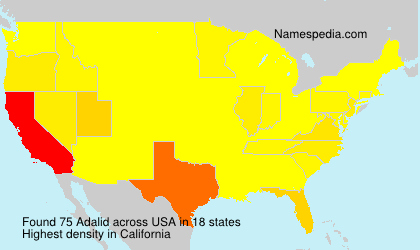 Surname Adalid in USA