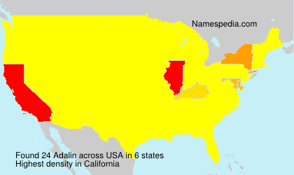 Surname Adalin in USA
