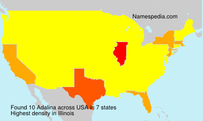 Surname Adalina in USA