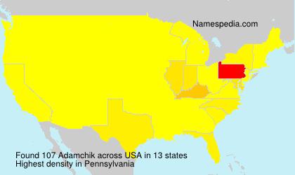 Familiennamen Adamchik - USA