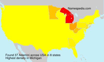 Familiennamen Adamini - USA