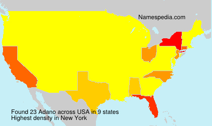 Surname Adano in USA