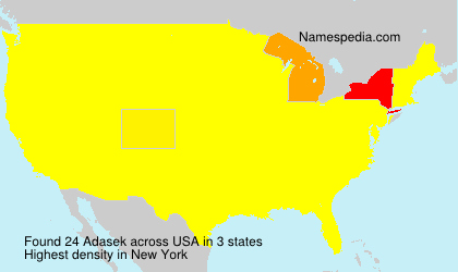 Surname Adasek in USA