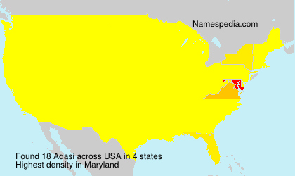 Surname Adasi in USA