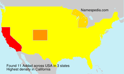 Surname Addad in USA