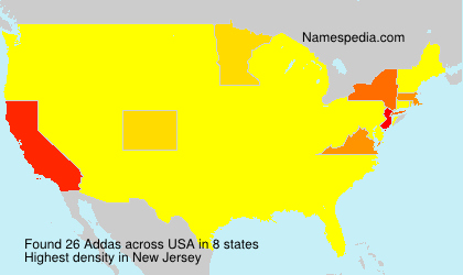Surname Addas in USA