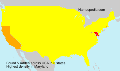 Surname Addeh in USA