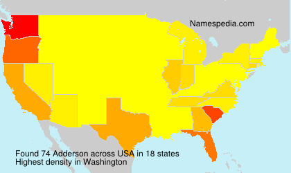 Surname Adderson in USA