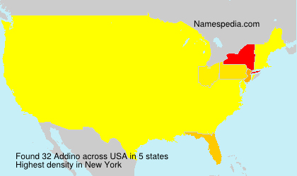 Surname Addino in USA