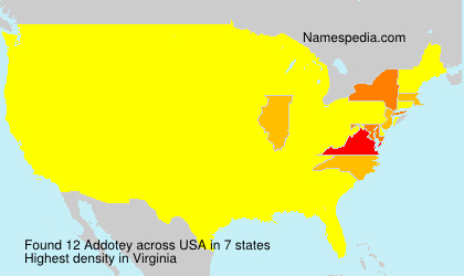 Surname Addotey in USA