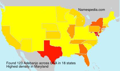 Surname Adebanjo in USA