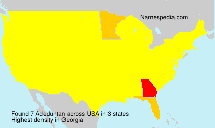Surname Adeduntan in USA
