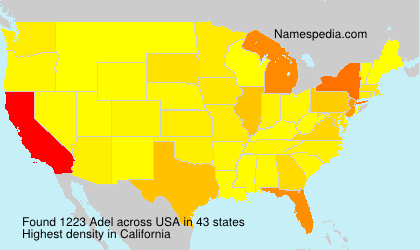 Surname Adel in USA