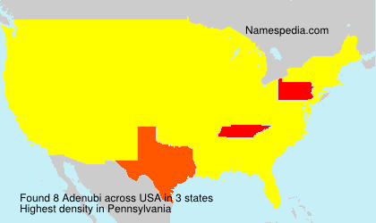 Surname Adenubi in USA