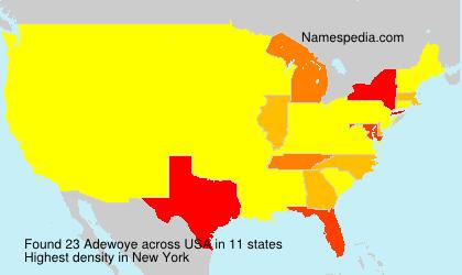 Familiennamen Adewoye - USA