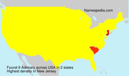 Familiennamen Adimaro - USA