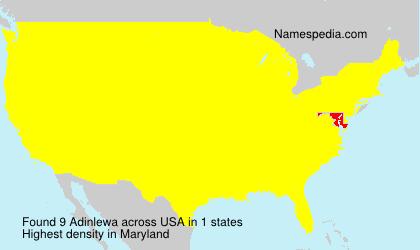 Surname Adinlewa in USA