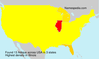 Surname Adique in USA
