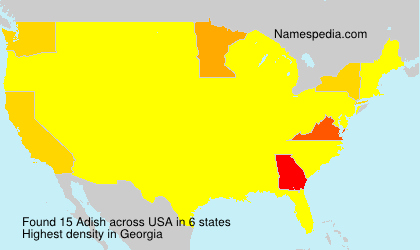 Familiennamen Adish - USA