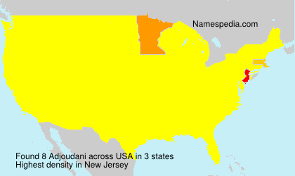 Surname Adjoudani in USA