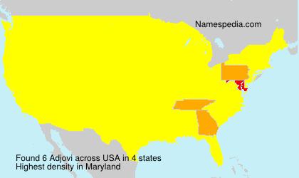 Surname Adjovi in USA