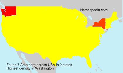 Surname Adlerberg in USA