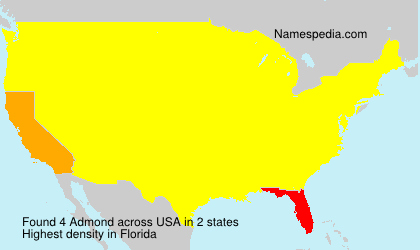 Surname Admond in USA