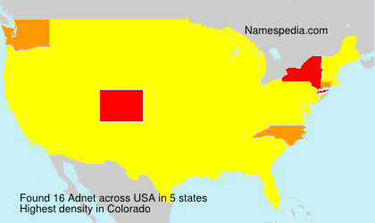 Surname Adnet in USA