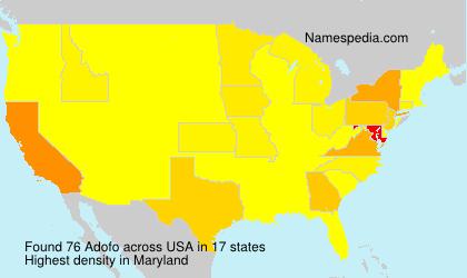 Familiennamen Adofo - USA