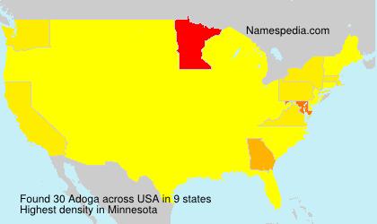 Surname Adoga in USA