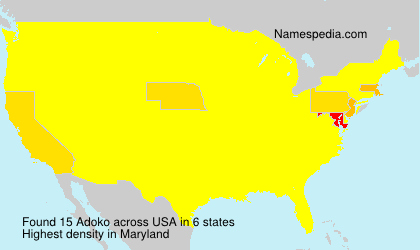 Surname Adoko in USA