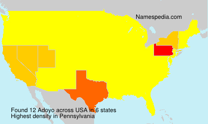 Surname Adoyo in USA